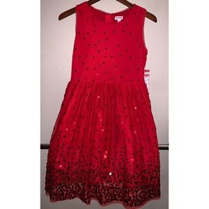 Brand New Cat & Jack Little Girls Red Dress